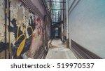 walking via hidden gate | Shutterstock . vector #519970537