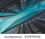 Skyscraper buildings and sky...