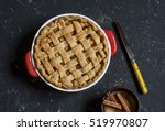 Rustic Apple Pie In Baking Dis...
