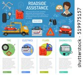 car service and roadside... | Shutterstock .eps vector #519975157