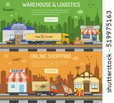 warehouse  logistics and... | Shutterstock .eps vector #519975163