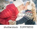 happy mother and daughter... | Shutterstock . vector #519978553
