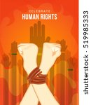 human rights day poster or... | Shutterstock .eps vector #519985333