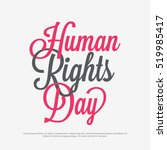 human rights day poster or... | Shutterstock .eps vector #519985417