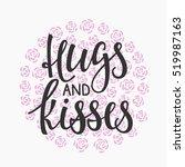 romantic lettering. calligraphy ... | Shutterstock .eps vector #519987163