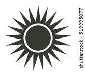 sun icon illustration isolated...