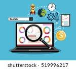 flat illustration web analytics ... | Shutterstock .eps vector #519996217