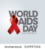 aids awareness red ribbon.... | Shutterstock .eps vector #519997243
