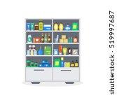 pharmacy showcase or shop...   Shutterstock .eps vector #519997687