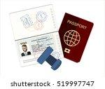 passport with biometric data.... | Shutterstock .eps vector #519997747