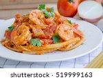 Macaroni  Shrimp   Bacon  With...