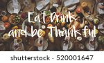 thanksgiving blessing... | Shutterstock . vector #520001647