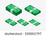 image of money. colored  icon.... | Shutterstock . vector #520001797