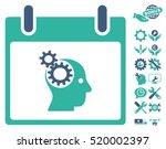 brain gears calendar day... | Shutterstock .eps vector #520002397