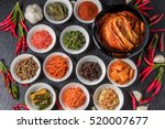 kimchi and korean food | Shutterstock . vector #520007677