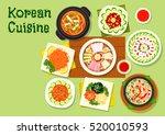 korean cuisine asian dishes... | Shutterstock .eps vector #520010593