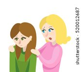 vector girls friend consolation | Shutterstock .eps vector #520012687