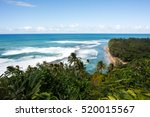 coastline on the kalalau trail... | Shutterstock . vector #520015567