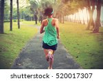 young fitness sports woman... | Shutterstock . vector #520017307