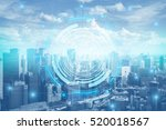 2017 smart city. internet... | Shutterstock . vector #520018567