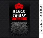 abstract vector black friday... | Shutterstock .eps vector #520018927