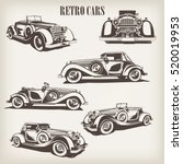 set of retro car. | Shutterstock .eps vector #520019953