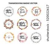 give thanks season hand drawn... | Shutterstock .eps vector #520022617