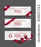 gift certificate design | Shutterstock .eps vector #520027213