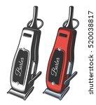 illustration of hair clipper....   Shutterstock . vector #520038817