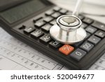 health care costs   stethoscope ... | Shutterstock . vector #520049677