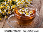 cup of medicinal chamomile tea... | Shutterstock . vector #520051963