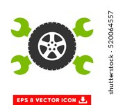 tire service wrenches eps... | Shutterstock .eps vector #520064557