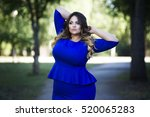 young beautiful plus size model ... | Shutterstock . vector #520065283