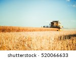 agriculture machine harvesting... | Shutterstock . vector #520066633