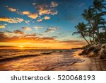 landscape of paradise tropical... | Shutterstock . vector #520068193