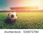 soccer ball on grass in soccer... | Shutterstock . vector #520072783