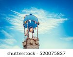 pilot traveling in a balloon | Shutterstock . vector #520075837
