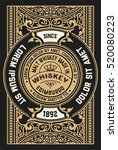 vintage design for labels.... | Shutterstock .eps vector #520080223