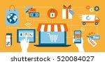 online shopping  e payment ... | Shutterstock .eps vector #520084027