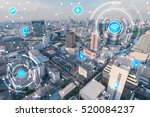 icons of wifi  internet ... | Shutterstock . vector #520084237