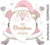 christmas and new year. 2017....   Shutterstock .eps vector #520090633
