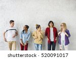 diversity students friends... | Shutterstock . vector #520091017