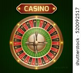 roulette is a casino in retro... | Shutterstock .eps vector #520092517