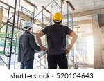 engineer and architect working... | Shutterstock . vector #520104643