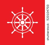 ship wheel icon vector... | Shutterstock .eps vector #520104703