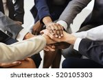 business team stack hands... | Shutterstock . vector #520105303