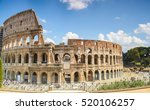 hdr colosseum   rome  italy | Shutterstock . vector #520106257