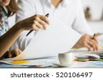 close up of caucasian man and... | Shutterstock . vector #520106497