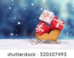 red and white christmas gift... | Shutterstock . vector #520107493