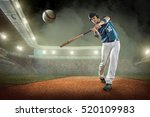 baseball players in action on...   Shutterstock . vector #520109983